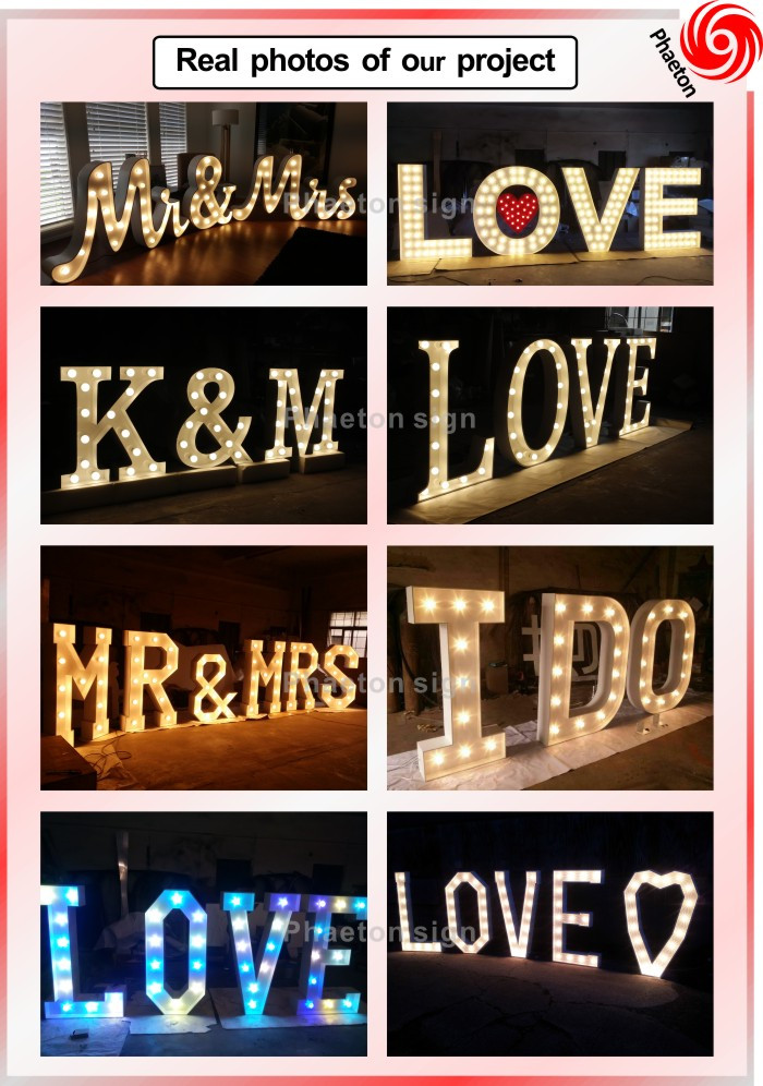 Wholesale vintage metal lettersvintage marquee lights for Where can i buy metal letters