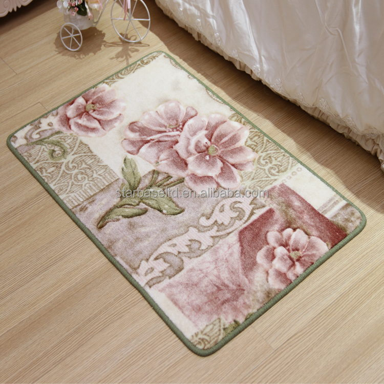 Durable anti slip polyester custom flooring mat