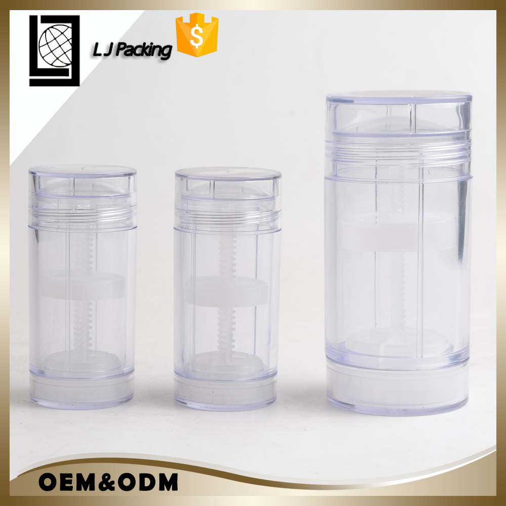 30g 50g 75g plastic empty glue deodorant stick container for cosmetic