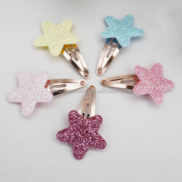 Colorful metal snap hair clips cheap cute kids hair clips small hair clips