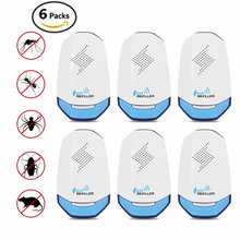 6 Pack Ultrasonic Electronic Pest Control Repellent Plug In for Insect, Mice, Rats, Mosquito
