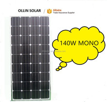 mono solar panel 140w worked solar water pump solar panel system