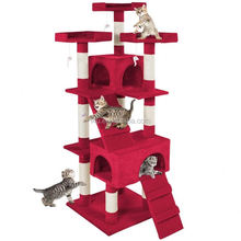 Deluxe Multi Level Cat Tree Scratcher Activity Centre Scratching Post Toys