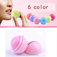 Candy colors natural fruit embellish cute round shape ball Lip Gloss