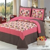 Hot selling cotton embroidery patch work bed sheets