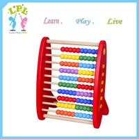 Educational toys and equipment wooden caculater for kids math studying