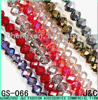8mm all kinds of color flat shaped glass beads