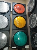 12 inch colorful lens traffic signaling light