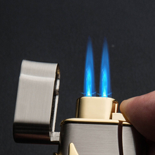 BCZ-JL3 HOT SALE quality dual jet butane gas lighter torch