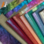 Shiny Glitter Material Fabric for Garment Glitter pu leather