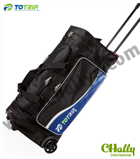 Custom logo sport travel bag with trolley