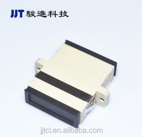 High Quality OEM SC Duplex Singlemode/Multimode Fiber Optic Adapter with flange