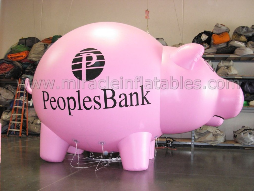 Promotion flying pig,inflatable pig helium balloon,advertising inflatable pig C4012