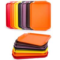 Wholesale Large Square Airline Meal Plastic Food Serving Tray