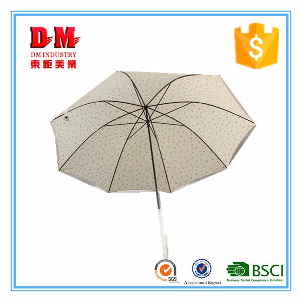 Brand new blue leaf shaped straight umbrella for wholesale
