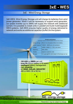 3xE-WES: Wind Energy Storage