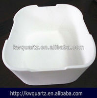 fused silica opaque quartz ceramic crucible container price