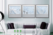 Home decor interior decorating, wall art frameless painting, 3d relief painting