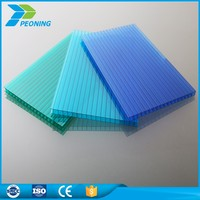 Blue polycarbonate hollow roofing sheets for canopy