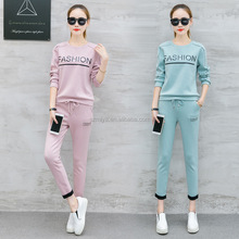 New design plain sweat suits women's hoodies suits sportswear for women