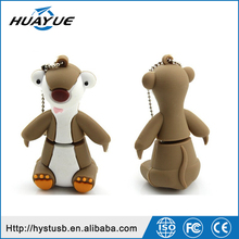 Funny and Cute Design Kangaroo Shape USB Flash Drives USB 2.0 Silicone Wristband USB Flash Memory