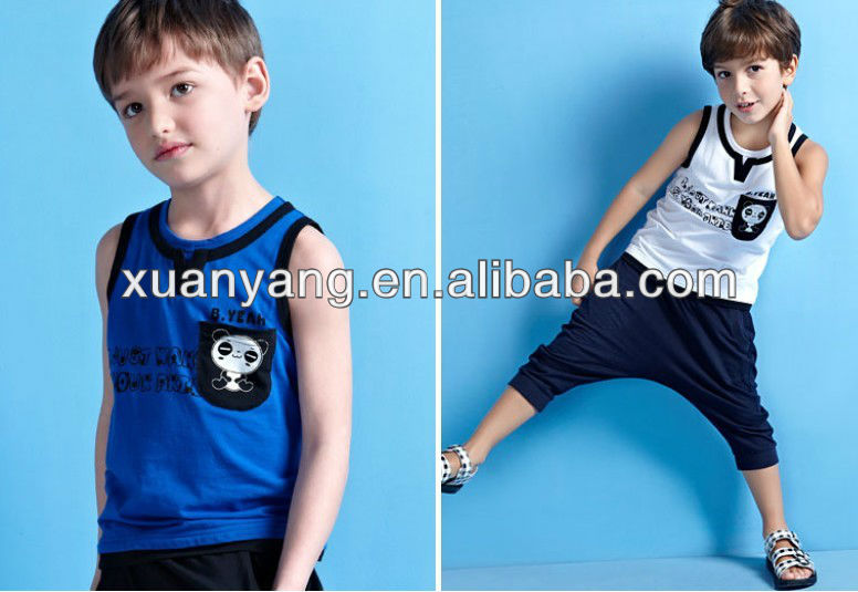 printed baby clothing child dress Korean clothes boy vest