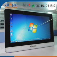 Aiopc Made In China 21 inch Ultra Thin fanless all in one touch screen all in one PC desktop computers