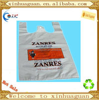 1% d2w HDPE biodegradable t-shirt bag for shopping