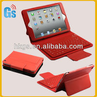 For iPad Mini With Wireless Bluetooth Keyboard Leather Case