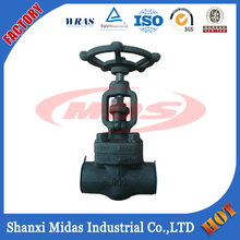 Manual forged steel butt weld gate valve