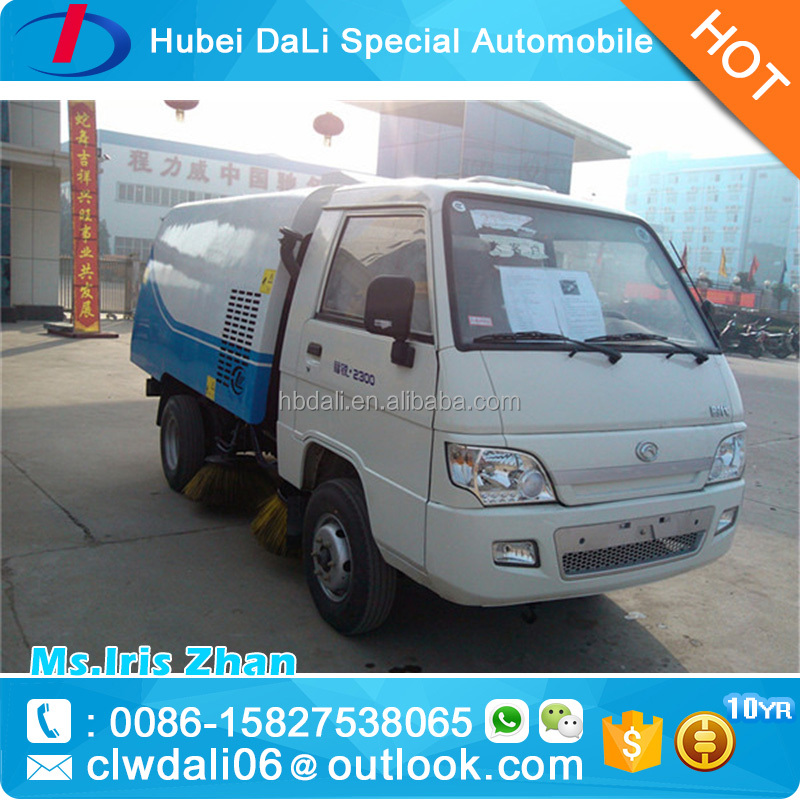 FOTON 4x2 small vacuum road sweeper truck high quality sweeper wash truck