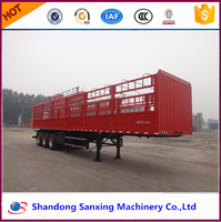 13m aluminium fence semi trailer