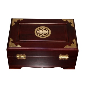 Classic Luxury camphor wood chest antique jewelry box wedding gift box