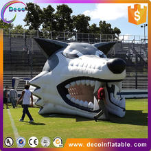 Inflatable Entrance wolf football tunnel for sale