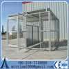 Galvanized weld mesh outdoor large dog run kennel with cover/Heavy duty galvanized large dog kennel with wheels