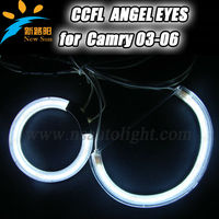 Ultra bright 8000K white CCFL angel eyes 108mm& 72mm halo ring head lights 9-16V DC for Camry 03-06