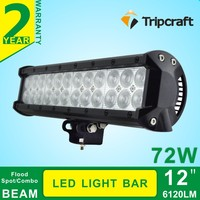 "12"" 72W led light bar 6120lm Combo beams 24pcs 3W C-ree Chips Waterproof for off road Van Camper"