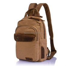 2014 trendy cool custom brown leather backpack
