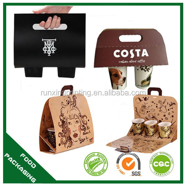 disposable paper coffee cup holder, cup and cup holder bag design and manufacture