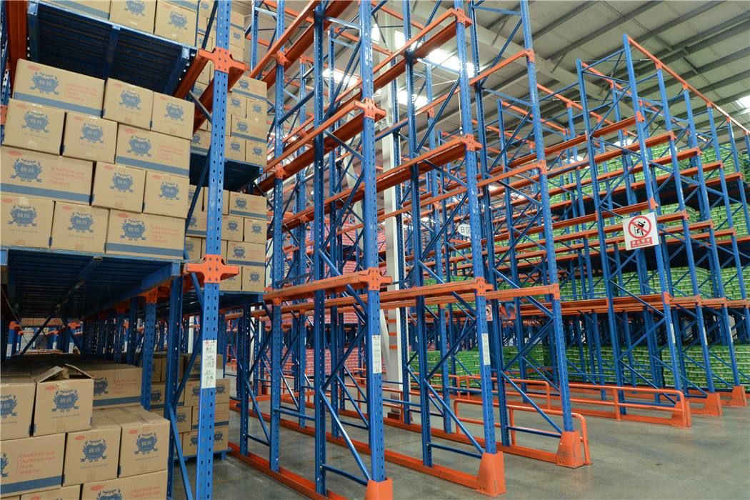E-commerce Operations Selective Push Back Pallet Racking