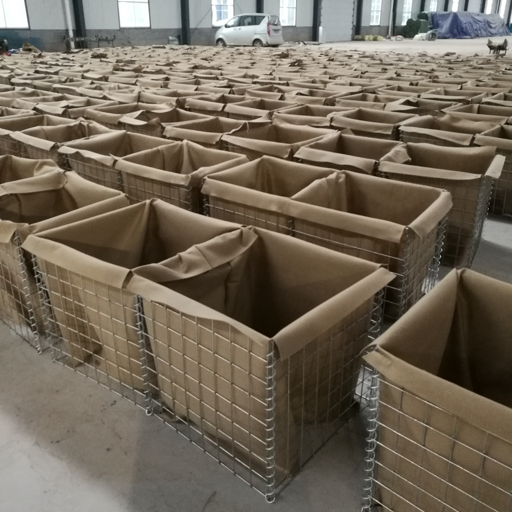 Army using cheap price hesco mil 7 galvanized fire-retardant hesco barrier/ defensive barrier/ hesco barrier system hot selling