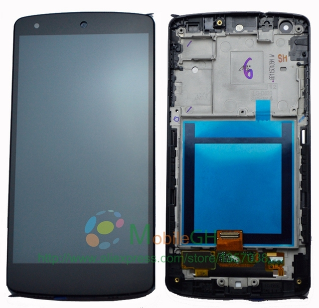 For LG Google Nexus 5 LCD Display Touch Screen Digitizer Assembly With Frame D820 D821 Replacement Parts