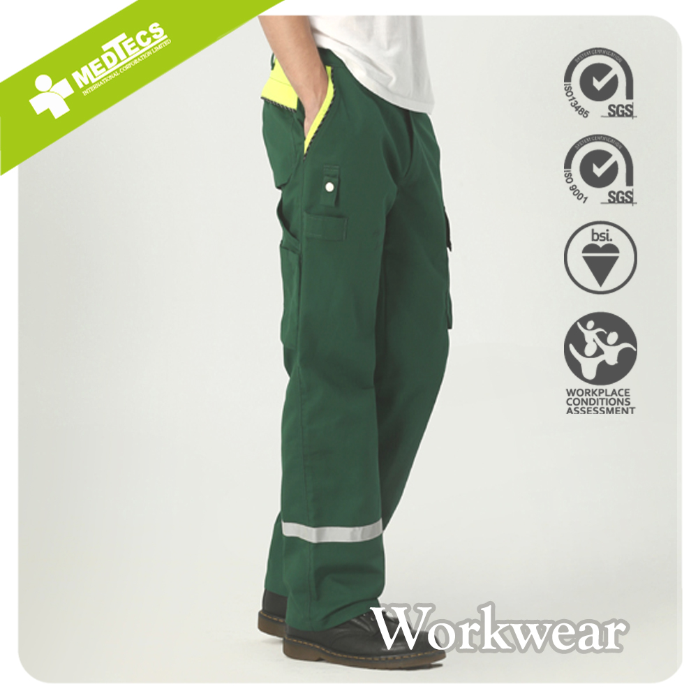 Green custom Reflective Trouser fire Retardant Work Pants men