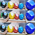 Modern hand blown art multicolored murano style garden decor large decorative glass balls
