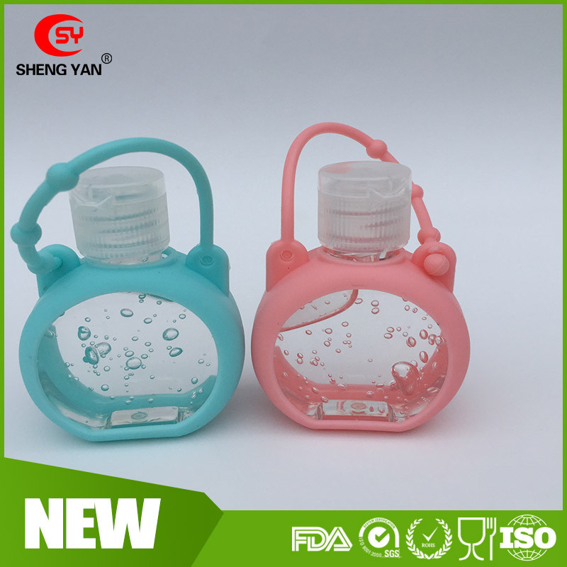 Customized silicone rubber hand sanitizer case / hand sanitizer with silicone holder