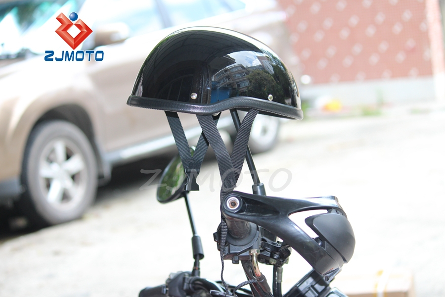 ZJMOTO Open Face Classic German Style Motorcycle Scooter Cruiser Helmet Motorcycle Helmet Open Face Helmet