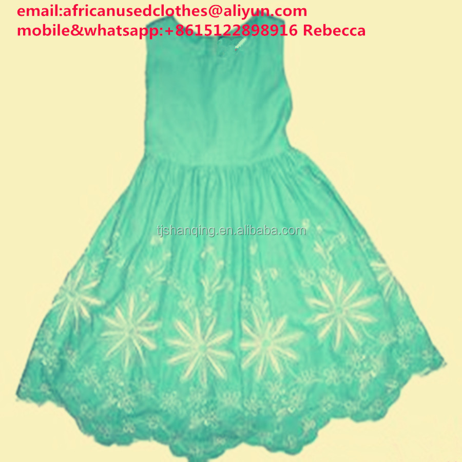 used clothing/dress type and 100% Cotton Material wholesale or retail used clothing bundles