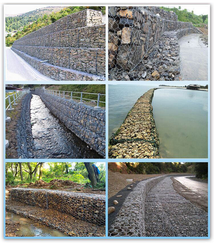Wire Cages Rock Retaining Wall Gabion