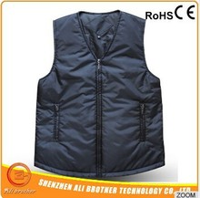 blue/black and other colors fashion heated vest/jacket/waist coat winter warmer