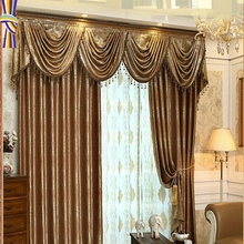 Wholesale Imitation Silk Shading Cloth Shading 100 Luxury Jacquard Curtain For Window